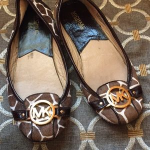 Michael Kors animal print loafers